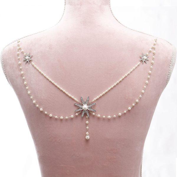 Ophelia Bridal Back Necklace