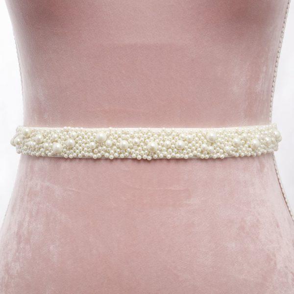 Pia Bridal Belt with Ribbon Ties
