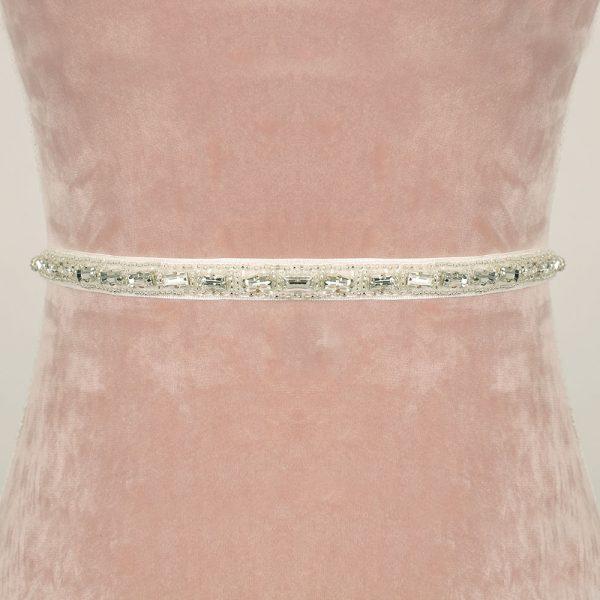 Poppy Bridal Belt with Ribbon Ties