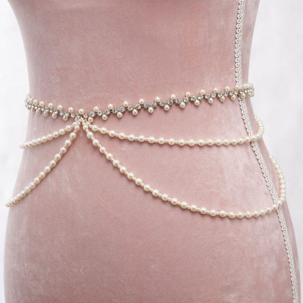 Primavera Bridal Belt with Ribbon Ties