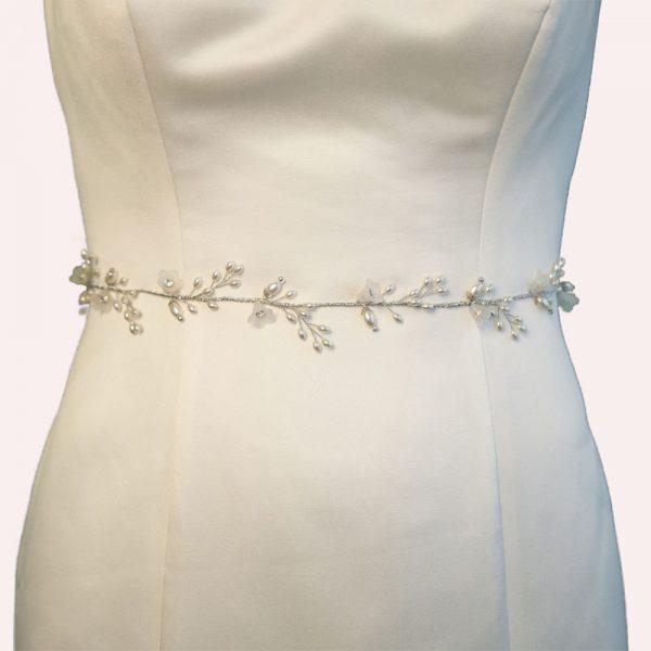 Yateley Bridal Belt with Ribbon Ties